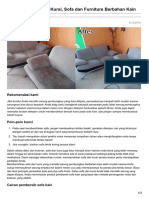 Cara Membersihkan Kursi Sofa Dan Furniture Berbahan Kain
