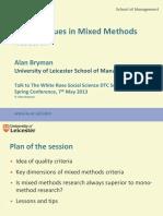 Bryman Mixed Methods Workshop