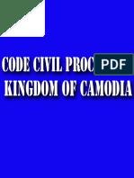 The Code of Civil Procedure of the Kingdom of Cambodia