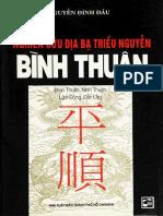 Địa Chí Bình Thuận - Nguyễn Đình Đầu