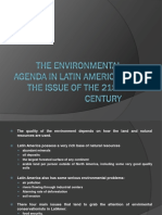 The Environmental Agenda in Latin America