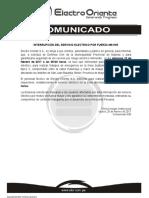 COMUNICADO 026 2017 Interrupción Linea 60KV