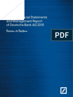Annual Financial Statements and Management Report Deutsche Bank AG 2015