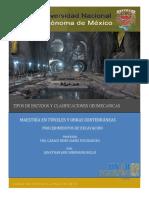 Clasificaciones Geomecanicas y Tuneladoras