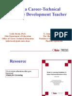 2009 CTE Licensure Presentation-1