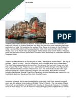 Varanasi Kashi the Holy City of India