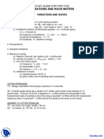 Vibration and Wave Motion General Physcis i Lecture Notes