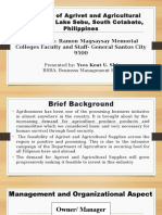 Feasibility of Agrivet and Agricultural Supplies in Lake Sebu, South Cotabato, Philippines