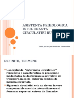 Asistenta Psihologica in Siguranta Circulatiei Rutiere
