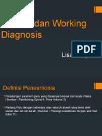 Definisi Dan Working Diagnosis Pneumonia