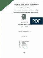 Sillabus Biologia  Molecular UNMSM