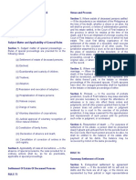 Codal Provisions - Prelims Rule 72-85