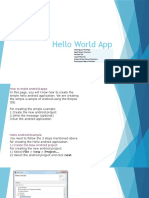 HelloWorldApp Session Presentation