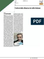 Il Coding dell'Università sbarca in televisione - Il Corriere Adriatico del 28 febbraio 2017