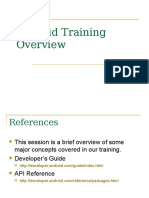Android Training Overview
