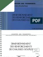 Dimensionnement Des Renforcements de Chaussees Souples Guide Technique