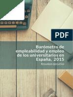 Barometro de Empleabilidad Resumen_ejecutivo_2015
