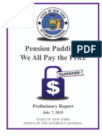 Cuomo Pension Padding Report