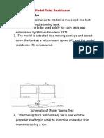 Model Test Towing Tank