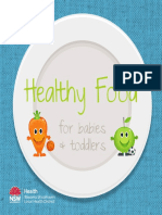 Healthy Food for Babys and Toddlers Cookbook