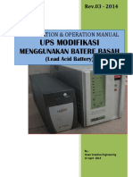 Installation & Operation Manual UPS Modifikasi Dengan Batere Basah