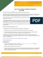 Razorfish Employee Social Influence Marketing Guidelines