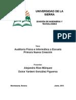 Ejemplo de Una Auditoria Informatica y d