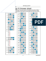 Pharmacology Practice Test IV Answer Sheet Key