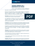 Diccionario Febrero 2017 - Recubrimientos en Teflón
