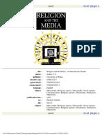 Chris Arthur] Religion and the Media an Introduc