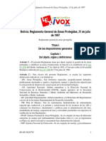 Reglamento Gral de AP - Bolivia
