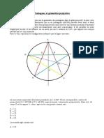 Pentagone Et Géométrie Projective