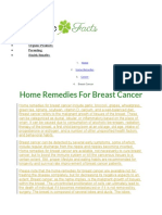 Home Remedies for Breast Cancer