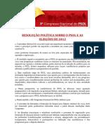 Resolução Política Sobre o PSOL e as Eleições 2012