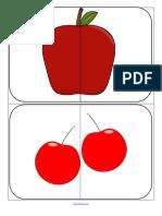 Puzzle Cards 2 Piece Fruit