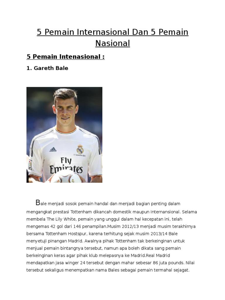 Biodata Pemain Internasional Dan Pemain Nasional