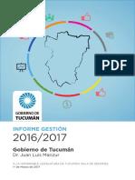 Informe de Gestión Gobierno de Tucumán 2016-2017