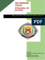 Ley Marco Del Empleado Publico II