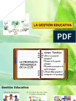 Gestión Educativa Propuesta Pedagógica