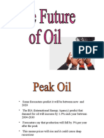 The Future of Oil