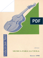 Historia de La Viola y Repertorio Español