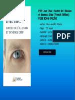 PDF Livre Choc  Sortez de l illusion et devenez Dieu French Edition FREE BOOK ONLINE.pdf