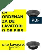 Lavatorio de Pies Orddenanza