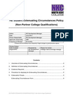 Extenuating Circumstances Policy (Non-Partner College Qualifications) - North Kent College