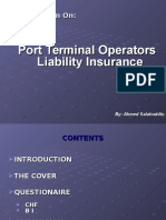 Port Terminal Operator Liability Insurance by Mr. Ahmed Sala