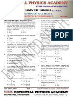 Neet -2 Test Series Properties of Matter and Fluid Mechanics 3