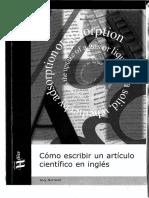 Como Escribir Un Articulo Cientifico en Ingles