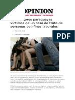 Dos Menores Paraguayas Víctimas de Un Caso de Trata de Personas Con Fines Laborales