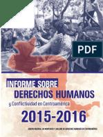 Informe Sobre Derechos Humanos y Conflictividad en Centroamérica 2015-2016