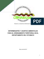 Determinantes Ambientales Para Putumayo-OAT